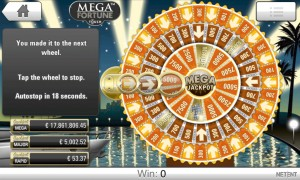 Skjermbilde av jackpotgevinst på 128 millioner!